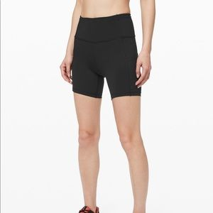 Lululemon fast and free short- 6inches black
